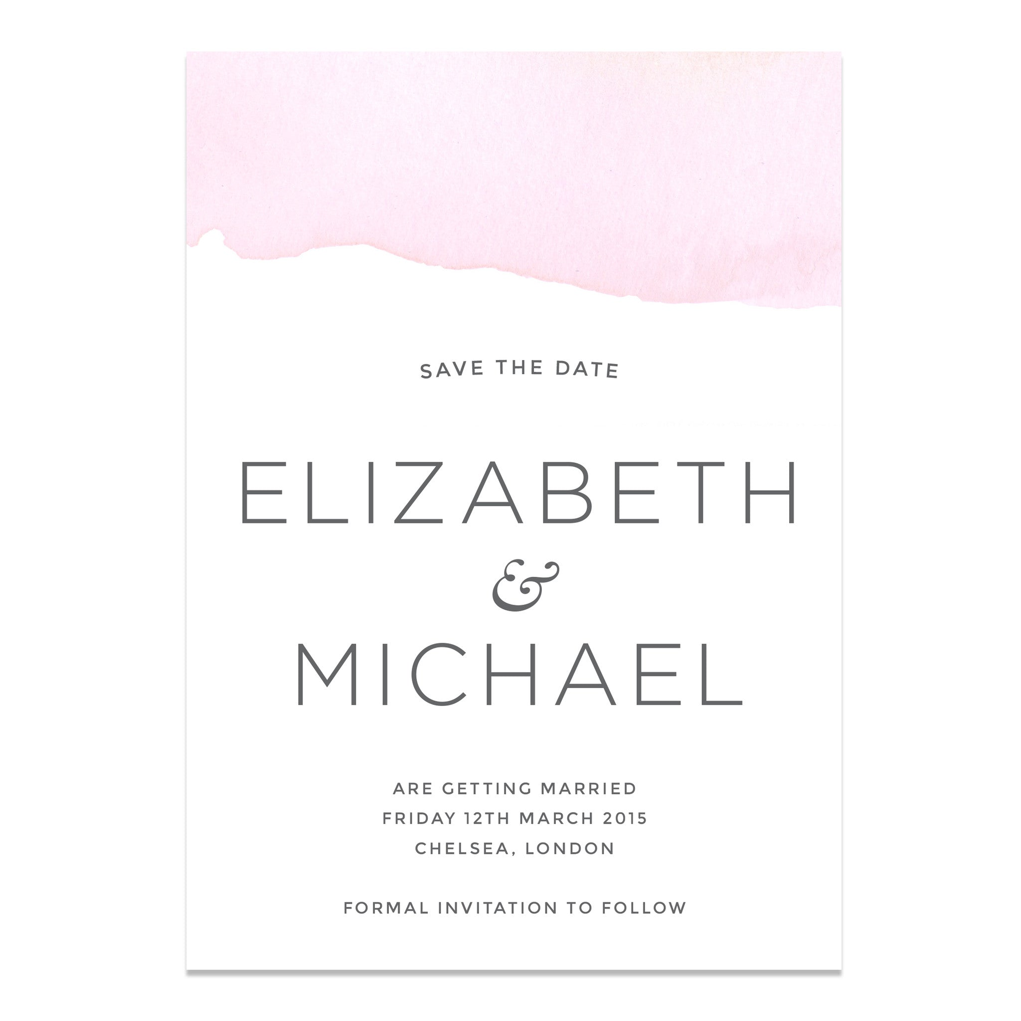 Ombre Water Colour Wedding Save The Dates
