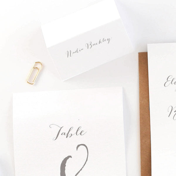 Elegance Typewriter wedding place name