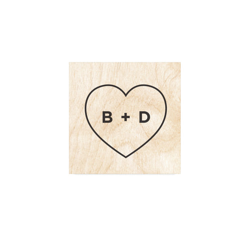 Personalised Heart Wooden Wedding Sign