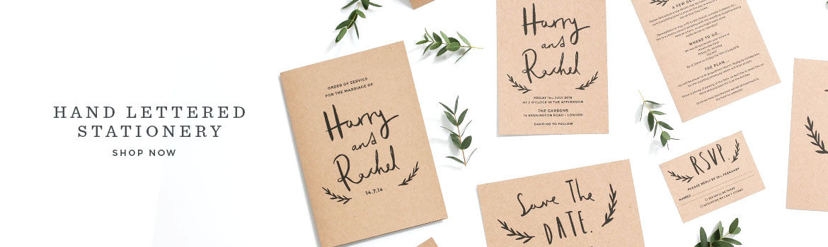 Hand Lettered Wedding Stationery