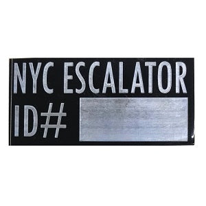 nyc escalator tag 700 NYC escalator ID#
