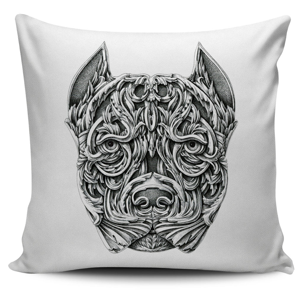 Stunning Ornate Dog Head Pillow Covers