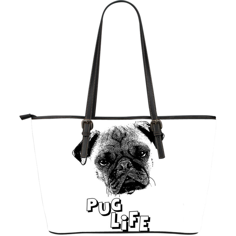 Pug life Leather Tote Bag - Large