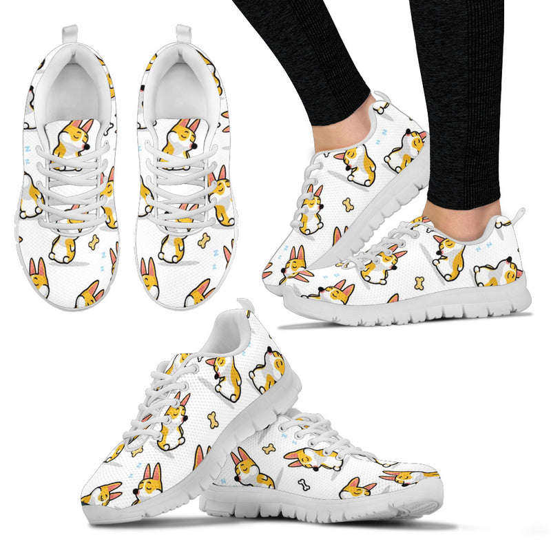Women's Sleepy corgi Sneakers