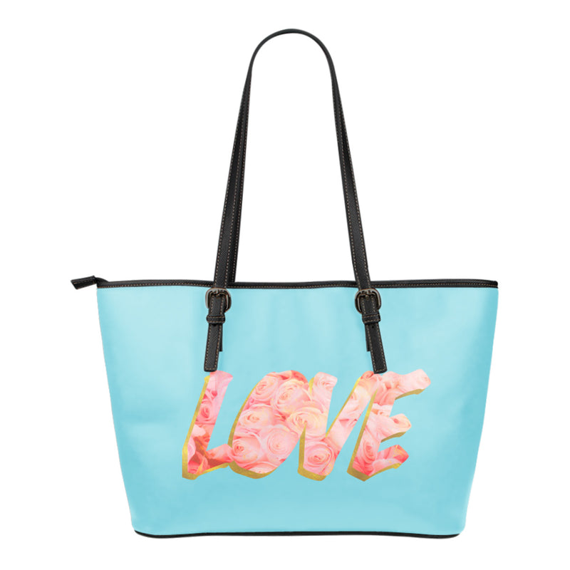 Small Love Leather Tote Bag