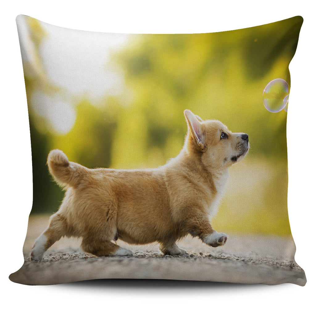 Corgi pup pillow cover
