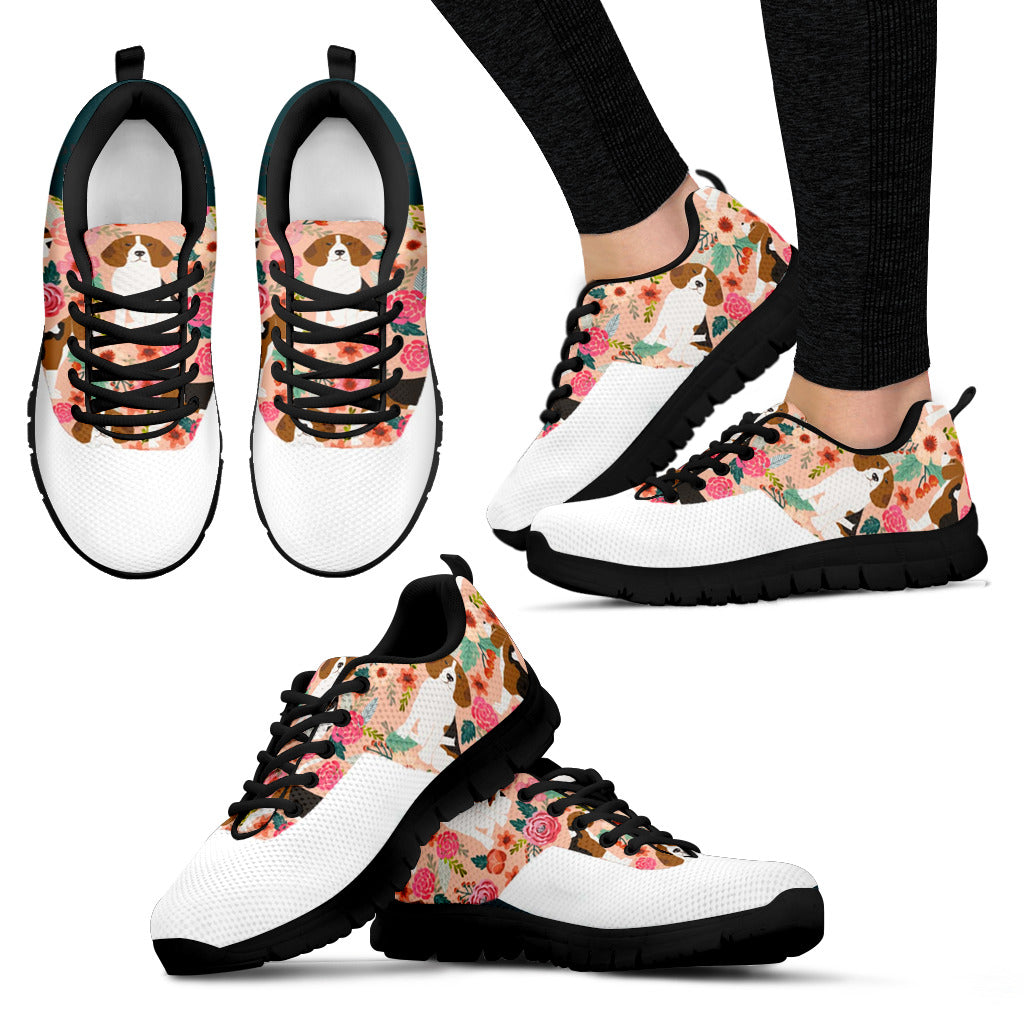 Women's Dog Floral Sneakers