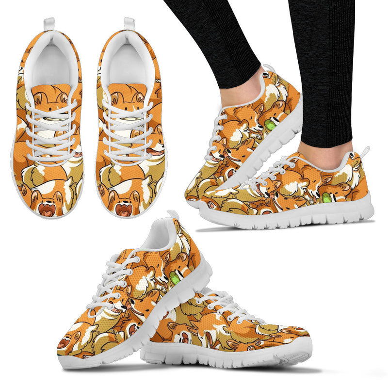 Women's Cute Corgi Sneakers