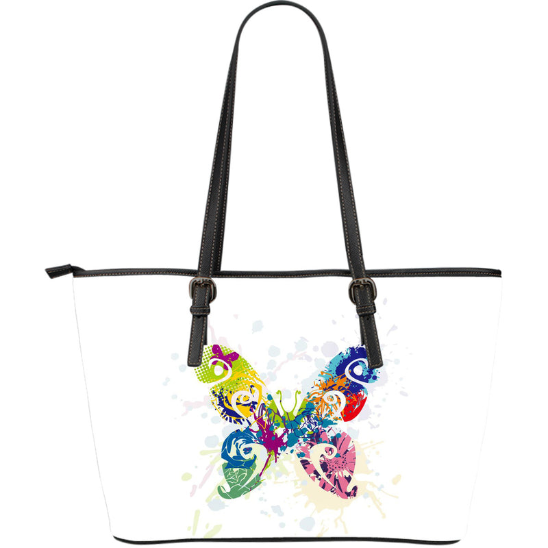 Butterfly Leather Tote Bag - Large