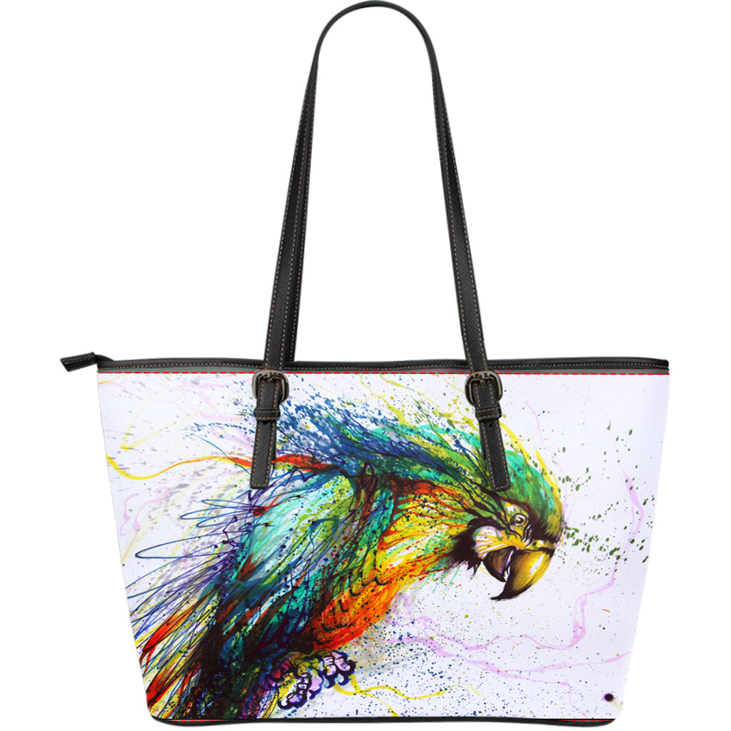 Parrot Leather Tote Bag - Large