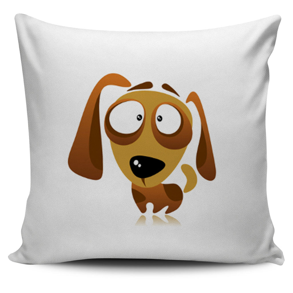 Cute Cartoon Dachshund Pillow Cover