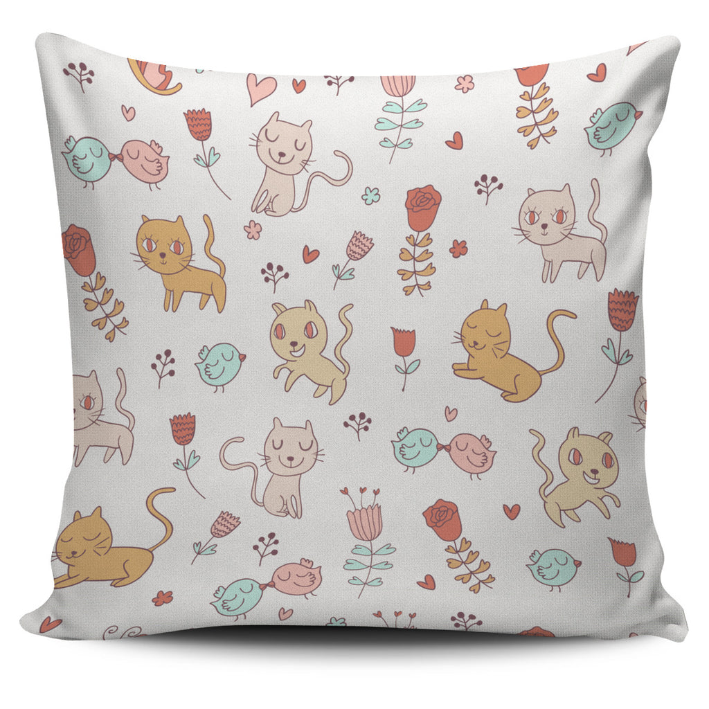 Cartoon Cats Pillow Cover