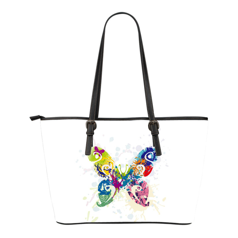 Butterfly Leather Tote Bag - Small