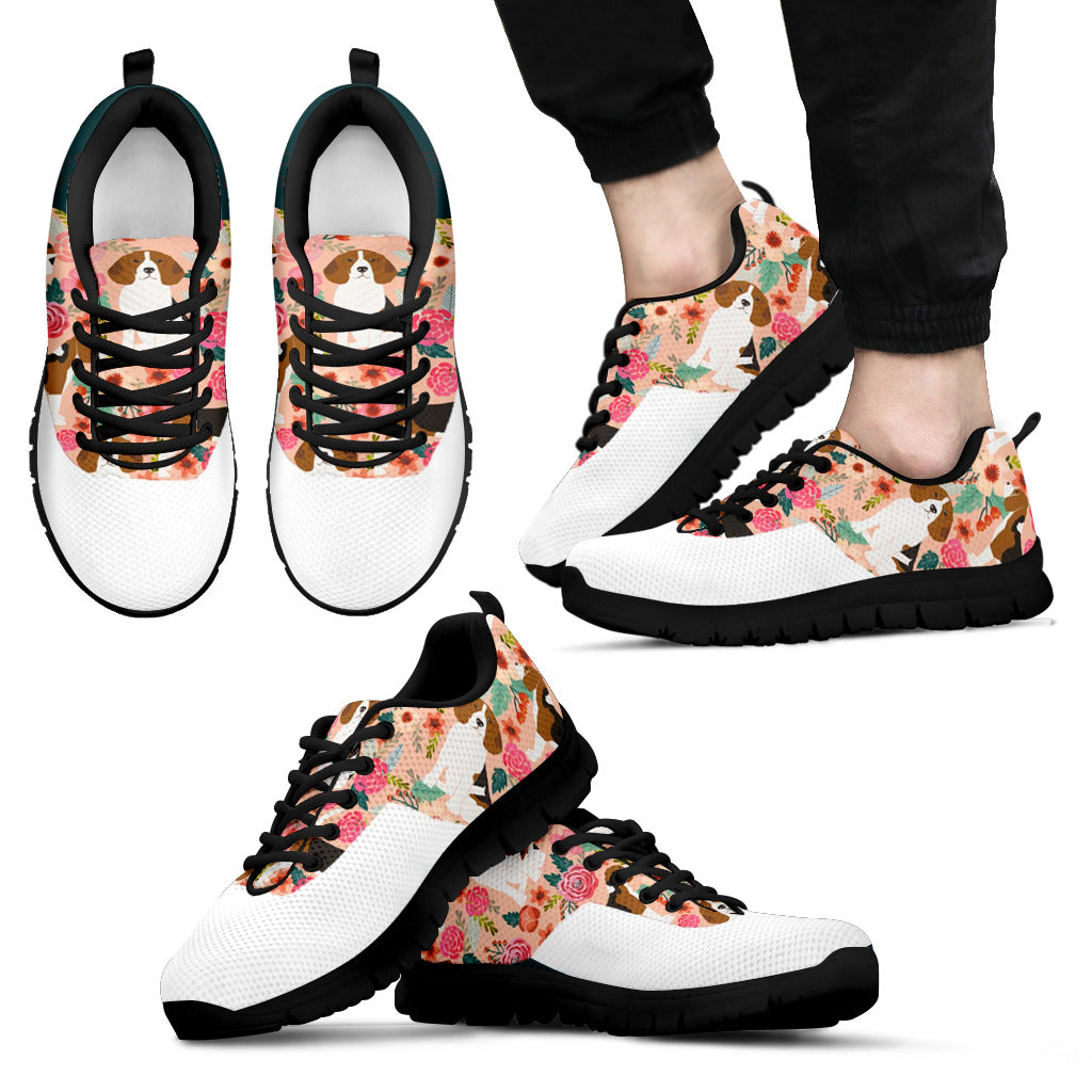 Men's Dog Floral Sneakers