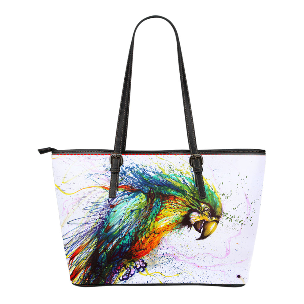 Parrot Leather Tote Bag - Small