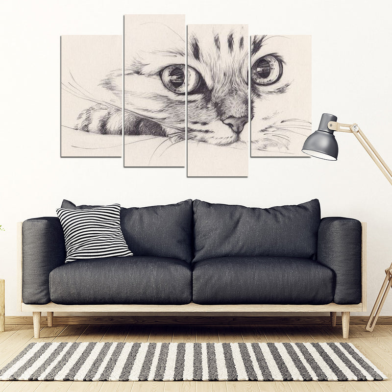 Sketch Cat Wall Art