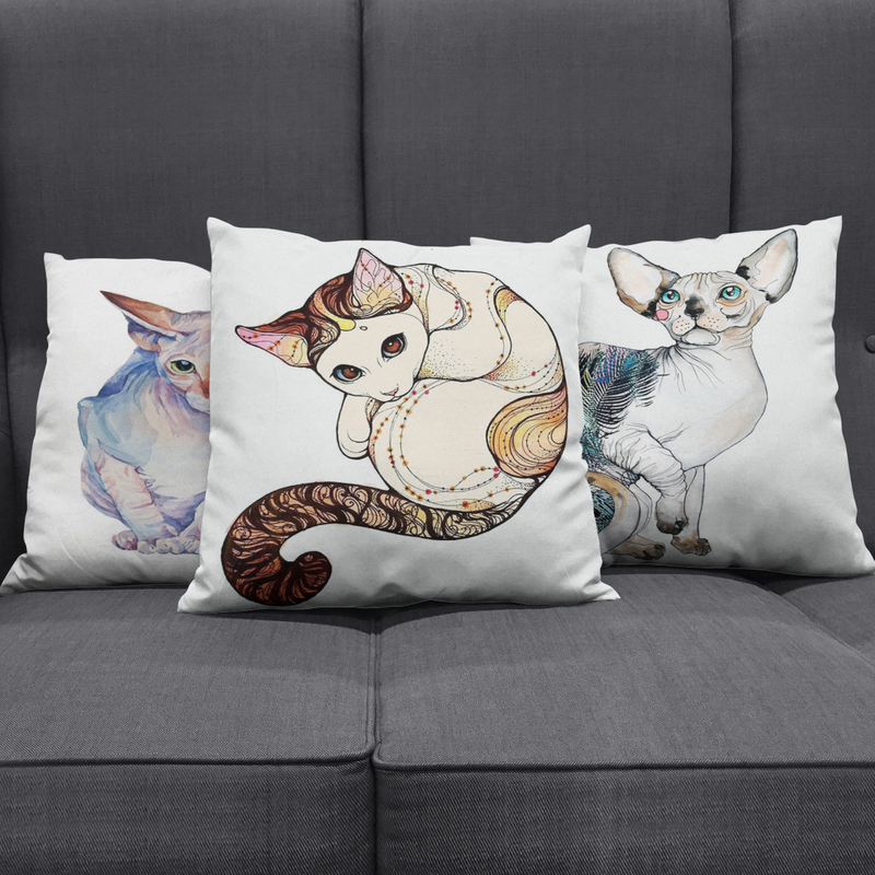 Persian Cat Pillow Cover