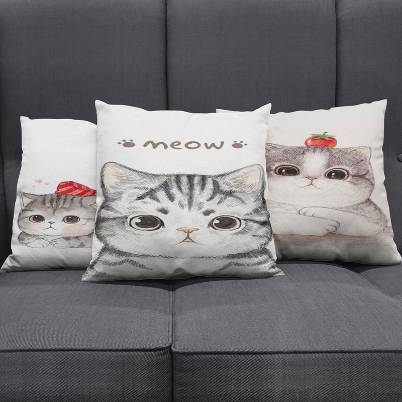 The Cute Cat Pillow Covers