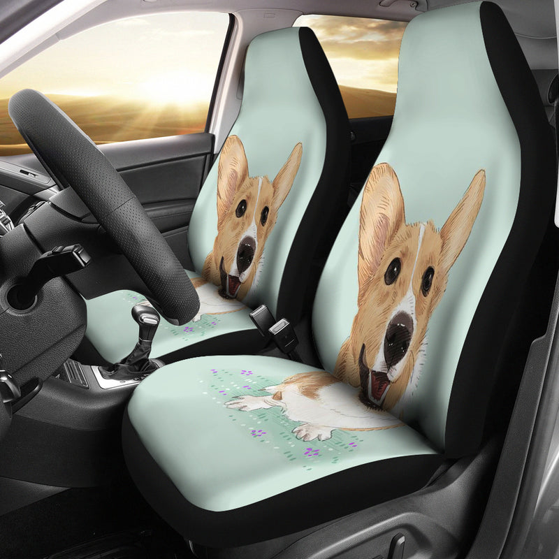 3D Print Corgi Animated Car Seat Cover