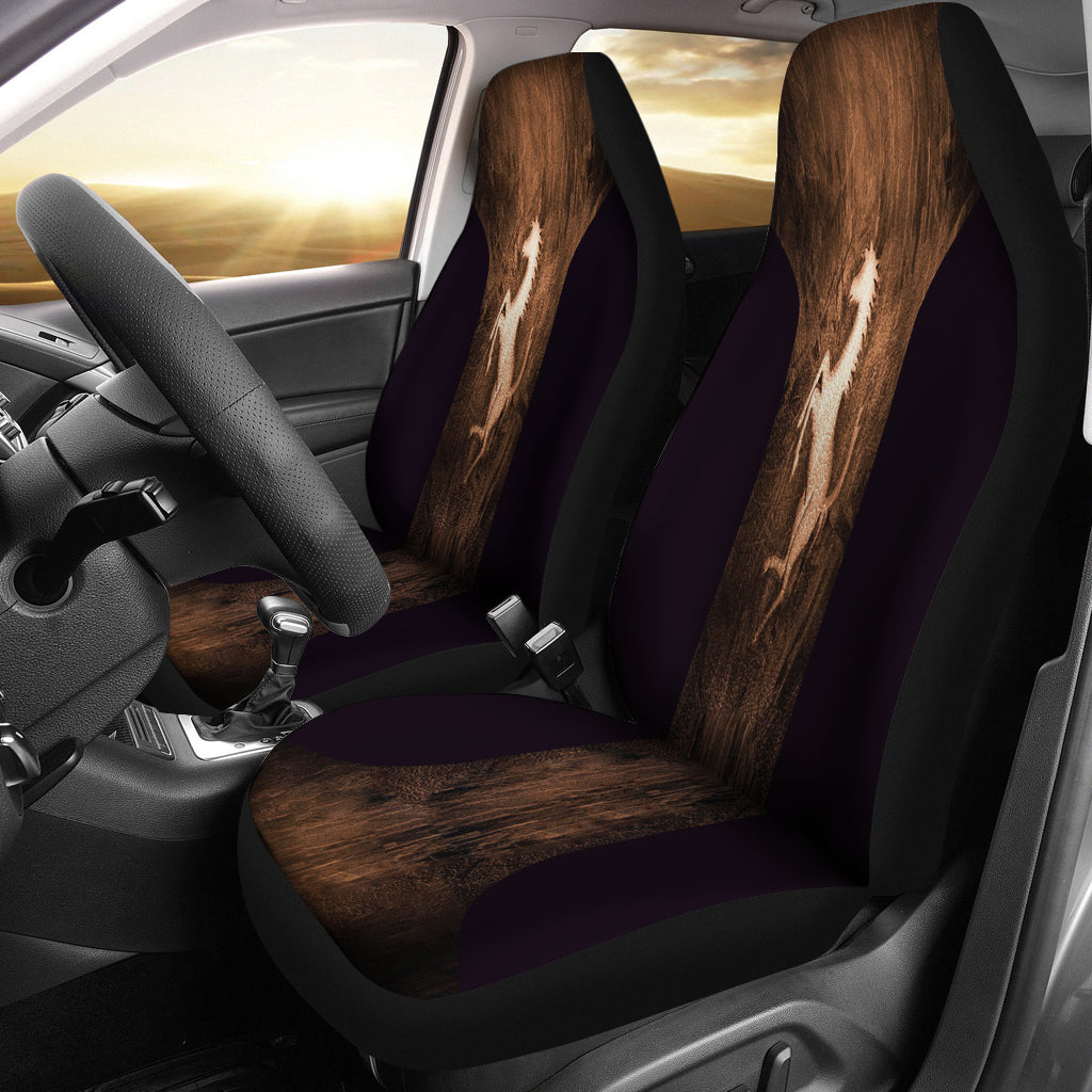 stallion - Black Car Seat Cover