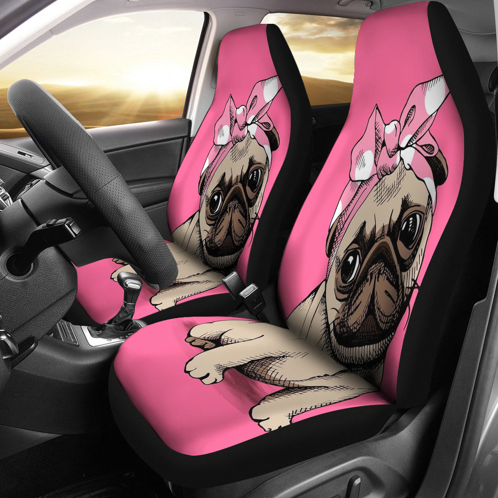 3D Print Animated Pug Car Seat Cover