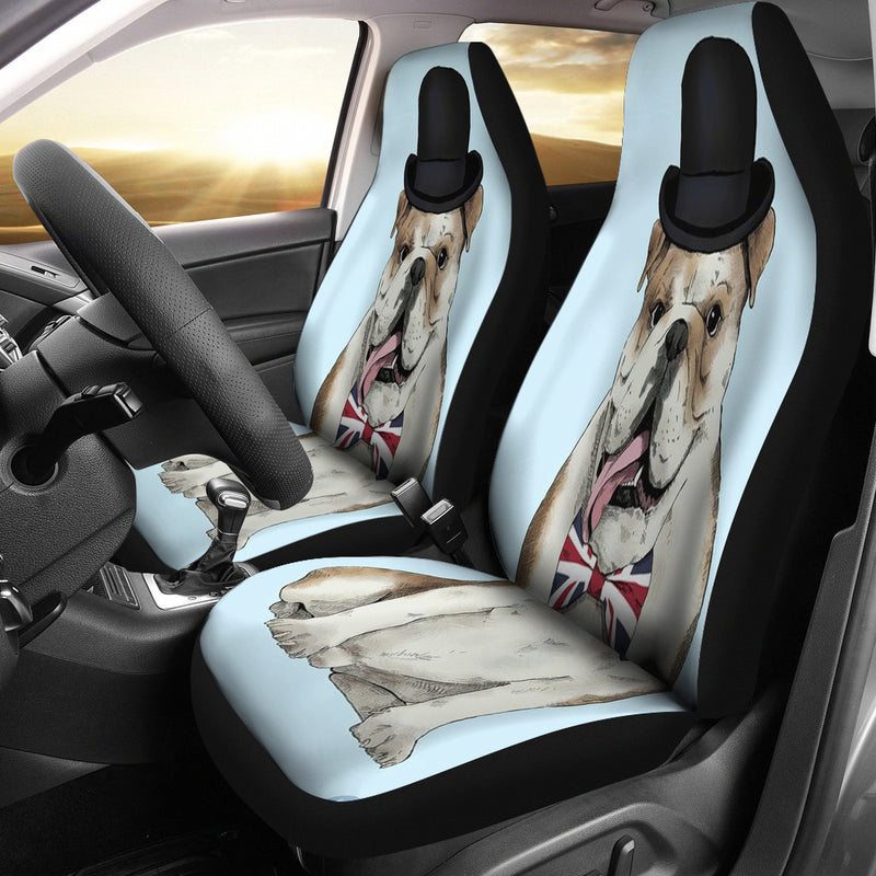3D Print Bulldog Animated Car Seat Cover