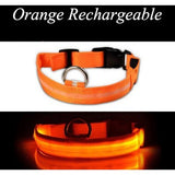 LED Dog Collar USB Charge. Glowing Light Night Safety ORDER TODAY & JUST PAY FOR SHIPPING AND HANDLING
