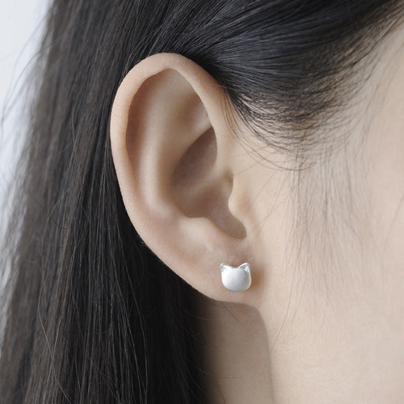 Solid 925 Sterling Silver Cute Stud Earings - JUST PAY SHIPPING AND HANDLING
