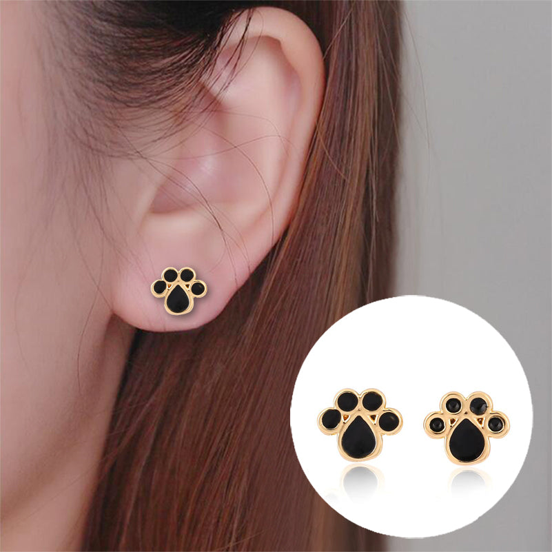 Cat's Paw Print Stud Earrings with Different Colors - JUST PAY SHIPPING AND HANDLING