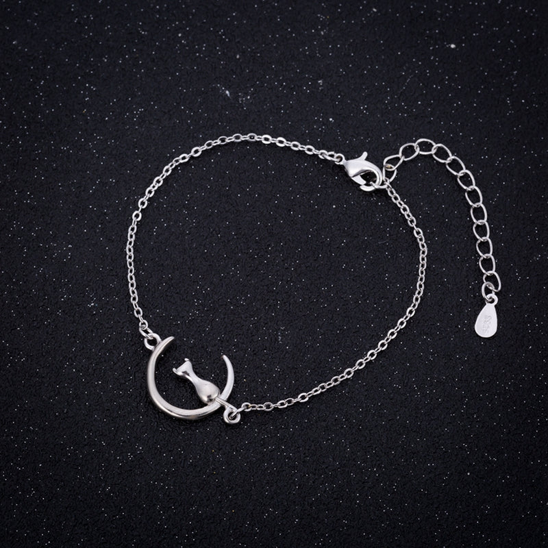 Cat Moon Gold & Silver Bracelet - JUST PAY SHIPPING & HANDLING