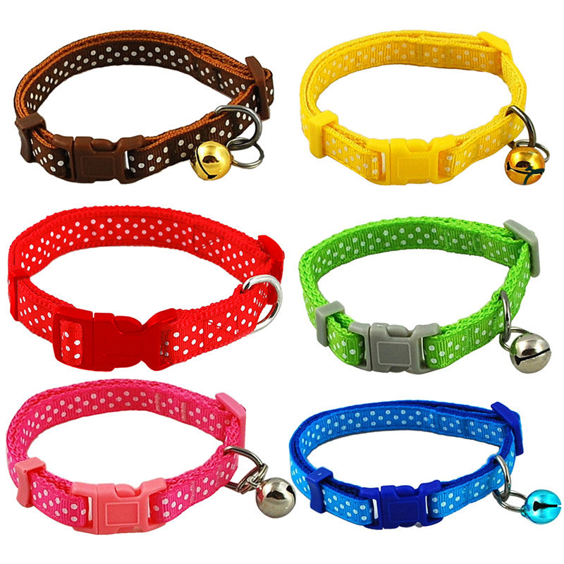 Candy Color Adjustable Pet Collar with Bell
