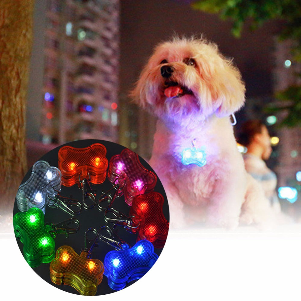 Glowing Pet LED Tag Pendant for Safety