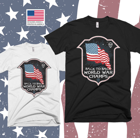 Back To Back World War Champs - Tee Shirt Design