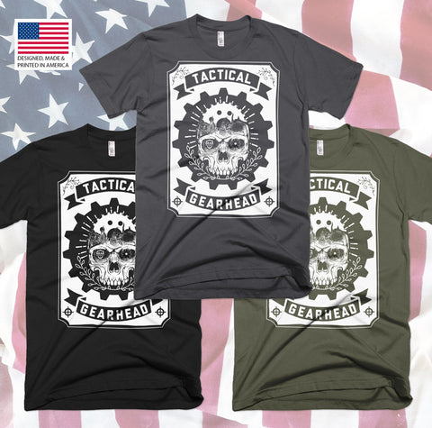 Tactical Gearhead Skull - Tee - Gear Assist