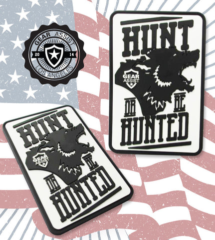 Hunt or be hunted Miltary PVC tactical morale gear patch by Gear Assist Tactical