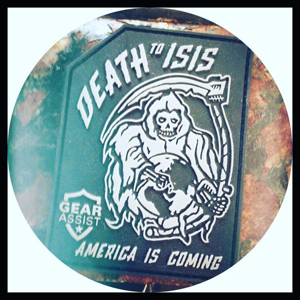 Death To ISIS - PVC Tactical Morale Patch - Gear Assist