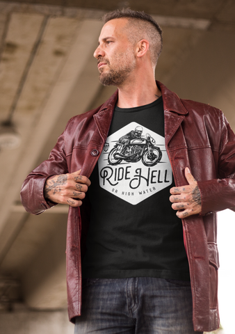 motorcycle tees by gear assist - Ride Hell Or high Water