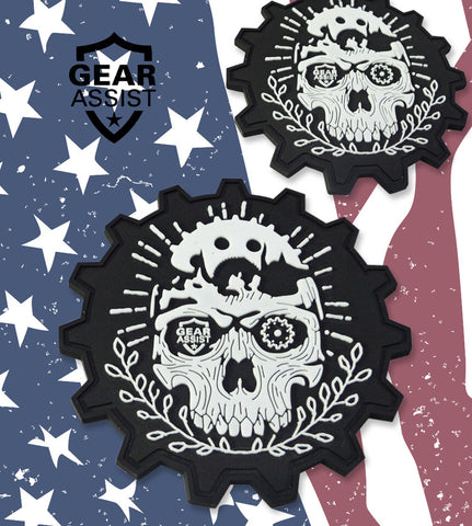 Tactical Gear Head Military PVC Patch Design - Skull