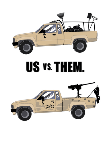 US VS Them - The ISIS Hunters Tee - Gear Assist