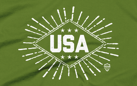 USA | America Star Burst Tee - Gear Assist