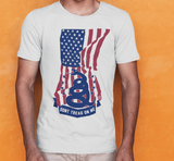 American Flag Dont Tread On Me - Tee - Gear Assist