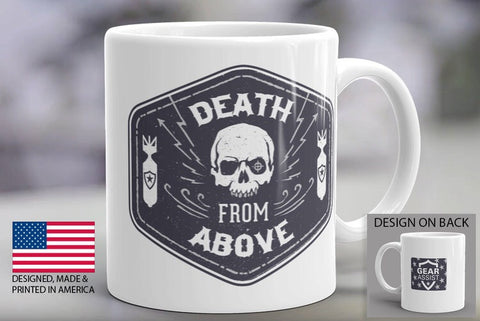 Skull Coffee Mug - Death From Above cup by Gear Assist