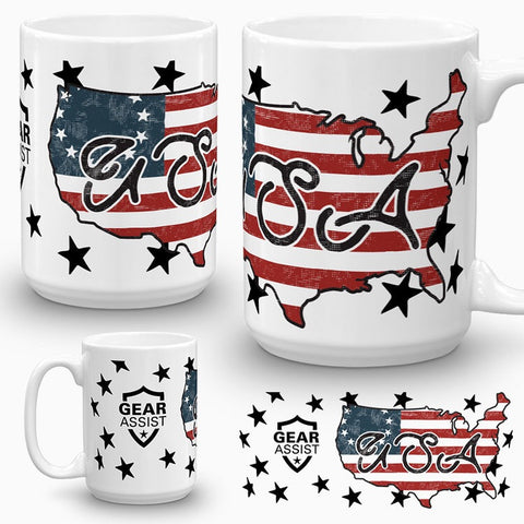 USA Map Betsy Ross - Coffee Mug - Gear Assist