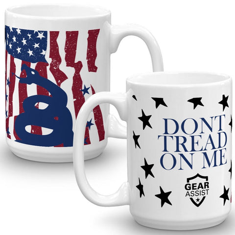 Dont Tread On Me US Flag - Coffee Mug - Gear Assist
