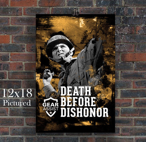 Death Before Dishonor Poster Design By Gear Assist Tactical Tees