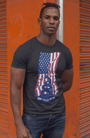 American Flag Dont Tread On Me - Tee