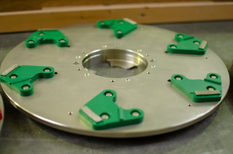 LAGLER Green Single Scrabber Disc Wide Complete - KHR Company Ltd