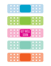 """Get Well Soon Bandaid"" Greeting Card - $1.50 Each (GC45AP030)"