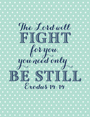"""The Lord will Fight for you."" Greeting Card - $1.50 Each (GC45AP088)"