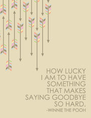 """How Lucky I am to Have Something That Makes Saying Goodbye So Hard"" Greeting Card - $1.50 Each (GC45AP1059)"